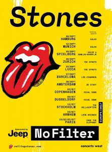 The Rolling Stones tour dates for 2017