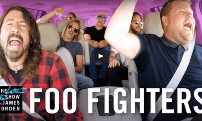Watch Foo Fighters carpool karaoke with James Corden
