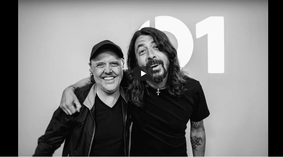 Watch Lars Ulrich interview Dave Grohl from the Foo Fighters