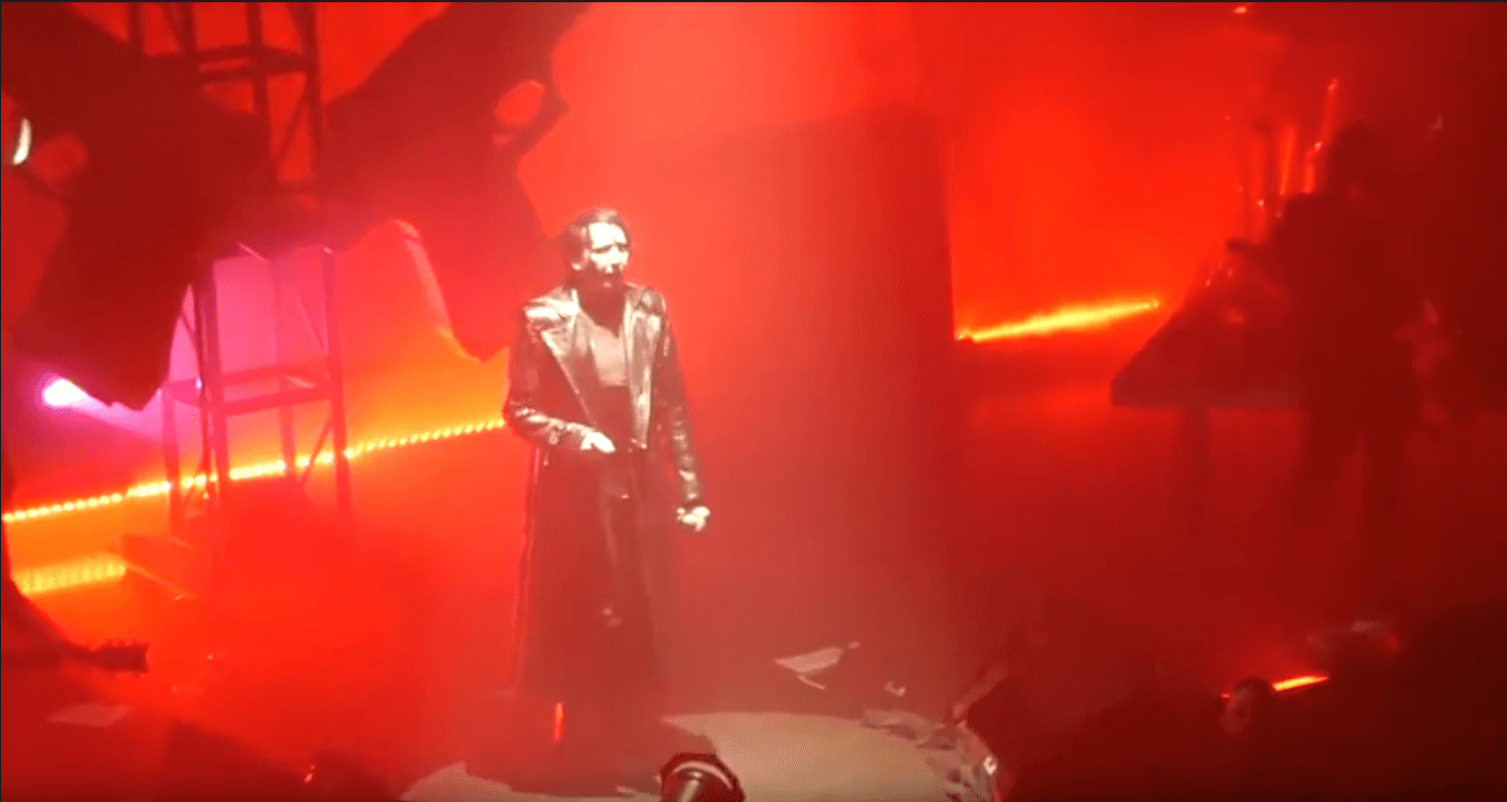 Watch Marylin Manson performing new songs in first concert tour