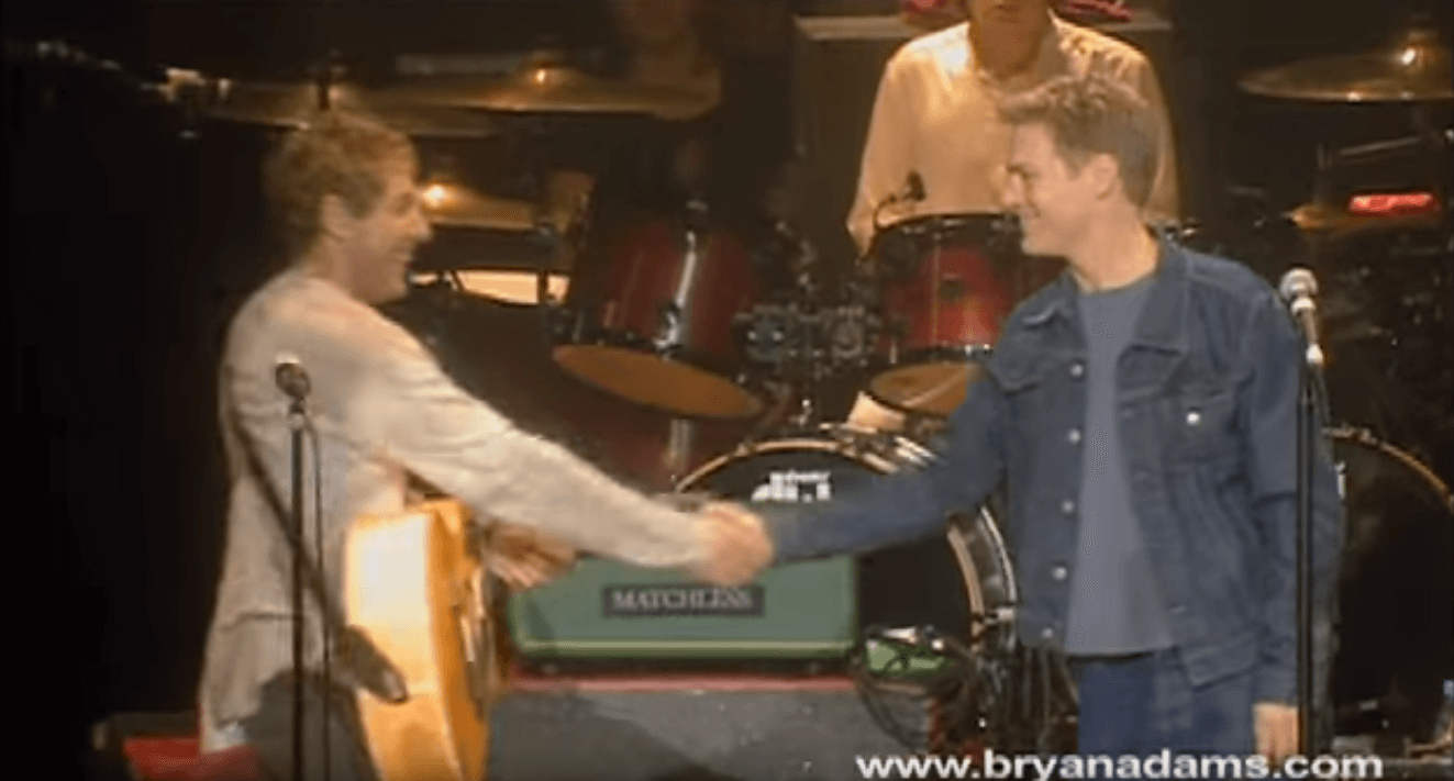 Back In Time: Bryan Adams and The Who performing Behind Blue Eyes