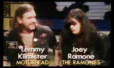 Back In Time Lemmy Kilmister goes on stage with The Ramones
