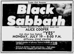 Black Sabbath, Queen and Deep Purple opened for yes