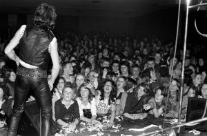 Bon Scott on stage