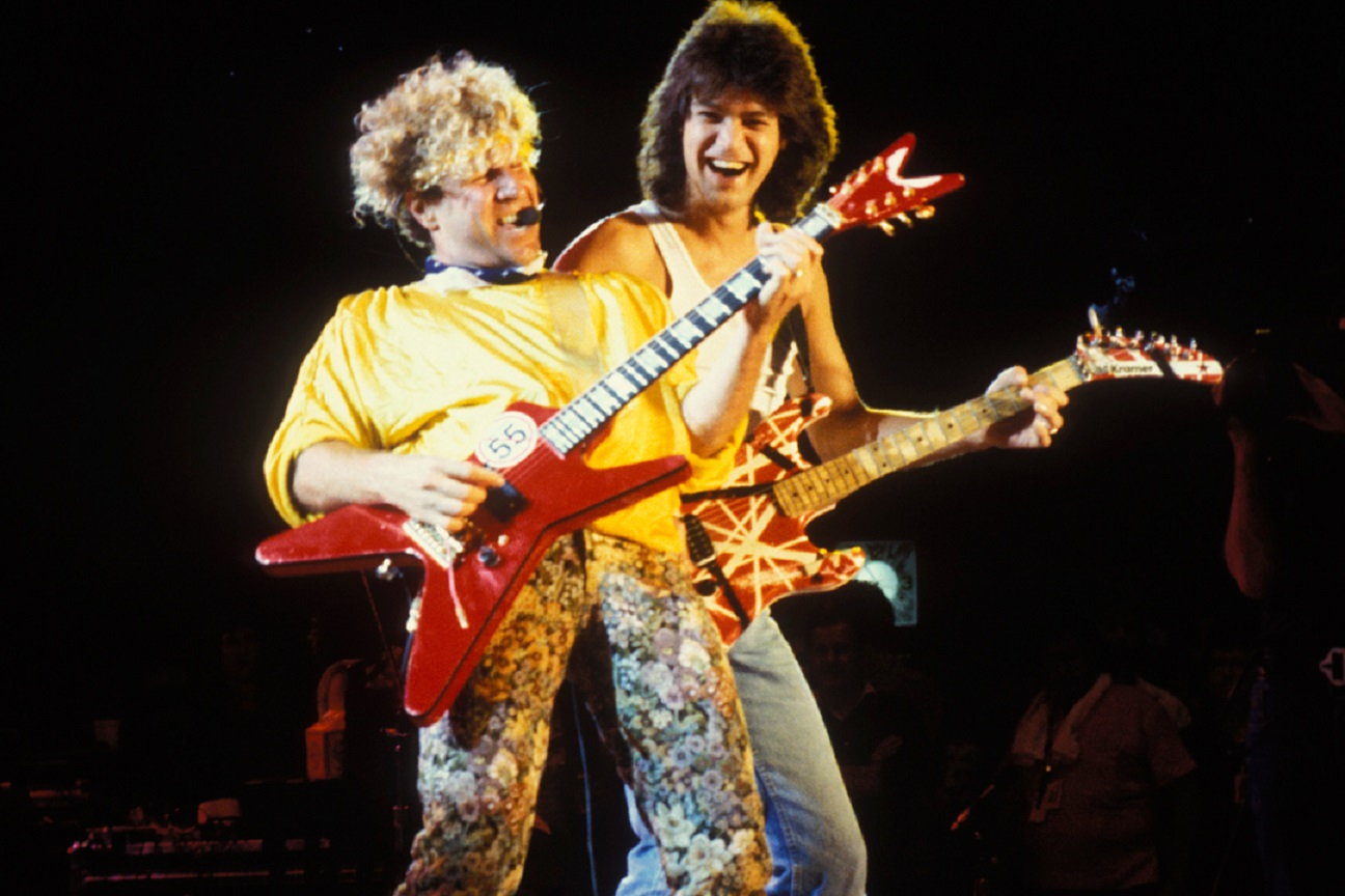 Eddie Van Halen and Sammy Hagar 1985