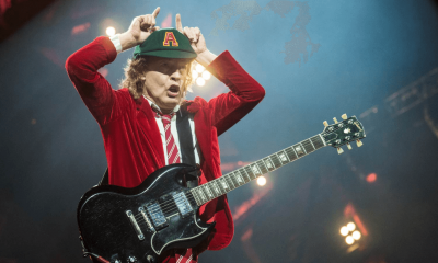 Hear Angus Young's isolated guitar track on You Shook Me All Night Long