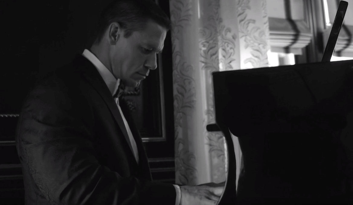 John Cena playing the piano