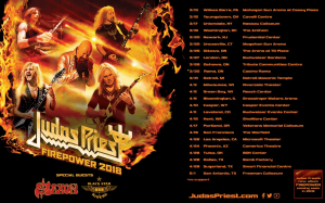 Judas Priest tour dates 2018