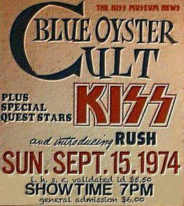 Kiss opened for Blue Oyster Cult
