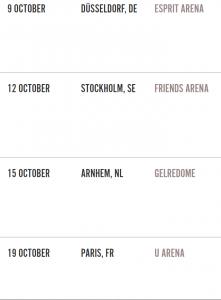 Rolling Stones next tour dates
