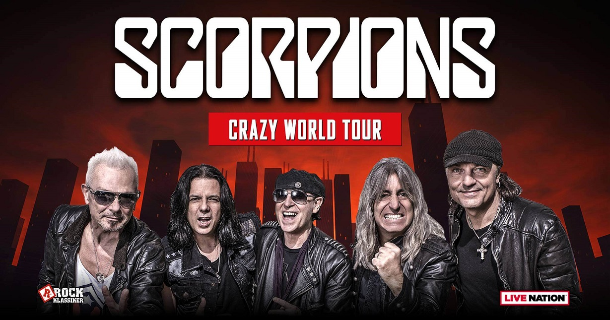 """Scorpions cancel remainder of USA """"Crazy World"""" tour with Megadeth"""