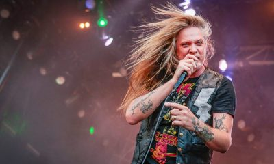Sebastian Bach on stage