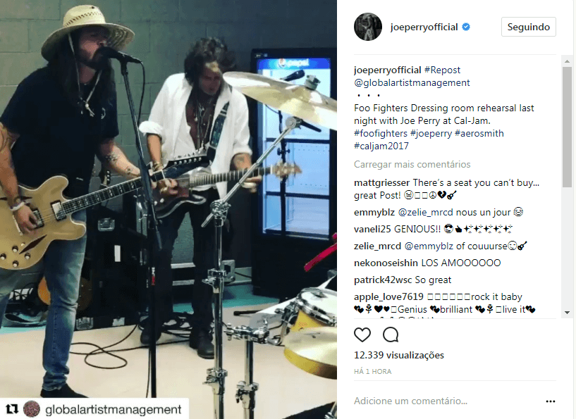 See Dave Grohl and Joe Perry rehearsing Draw The Line before Cal Jam