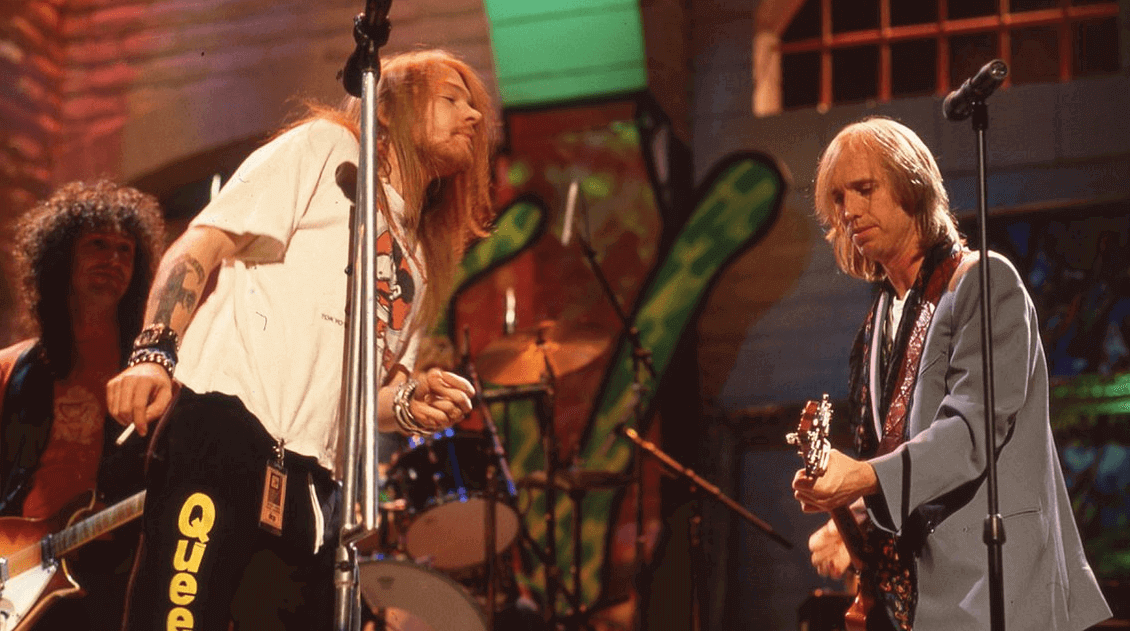 Back In Time: Tom Petty and Axl Rose performing
