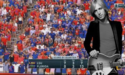 "Watch Florida fans singing Tom Petty's ""I Won't Back Down"" on the stadium"
