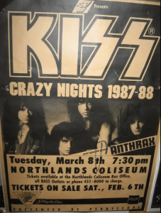 anthrax opened for kiss
