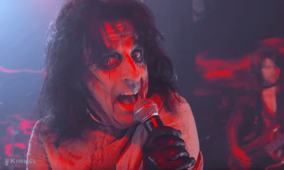 Alice Cooper on Jimmy Kimmel with Foo Fighters