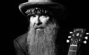 Billy Gibbons black and white