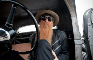 Billy Gibbons driving