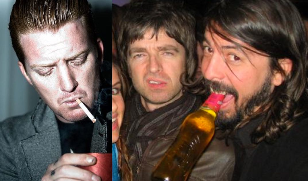 Josh Homme, Noel Gallagher and Dave Grohl