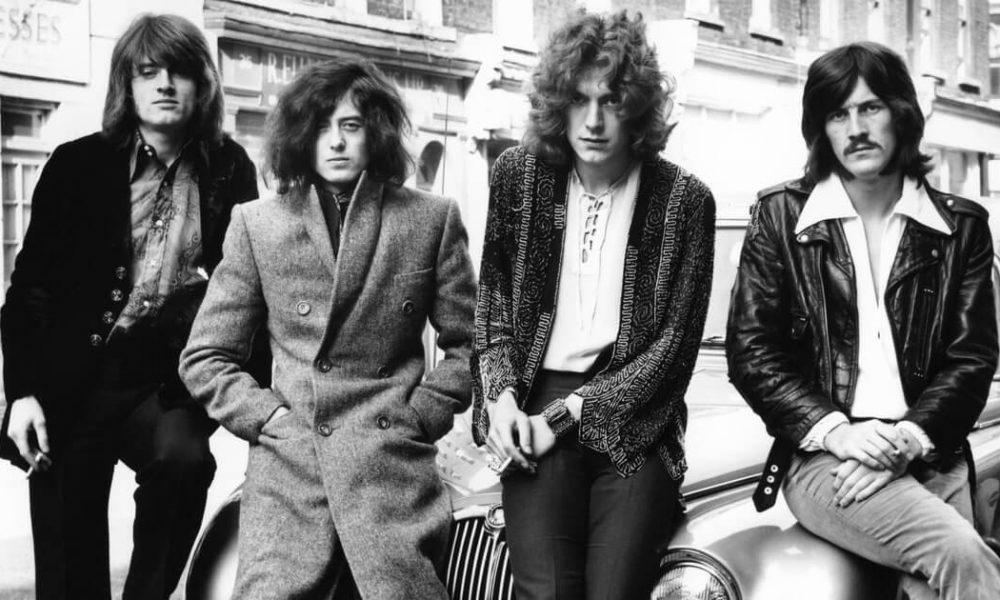 Led Zeppelin black and white