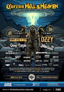 Scorpions, Ozzy, Judas, Deep Purple and more headline's metal festival