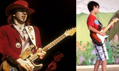 Stevie Ray Vaughan and little kid