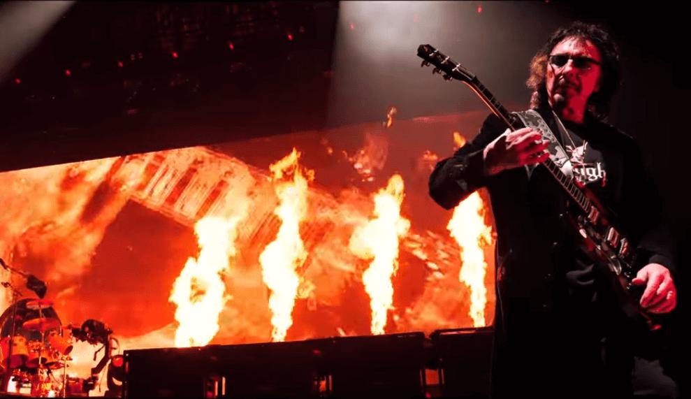 Tony Iommi flames