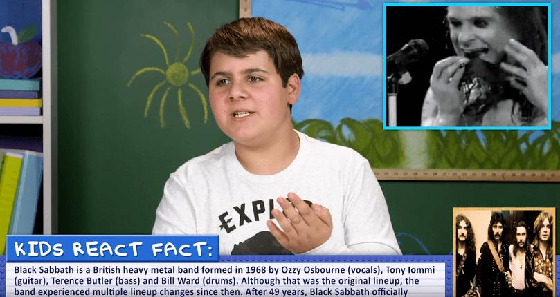Watch kids reacting to Black Sabbath songs