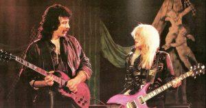 Tony Iommi and Lita Ford