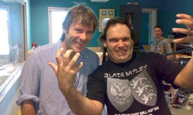 Bruce Dickinson and Blaze Bayley