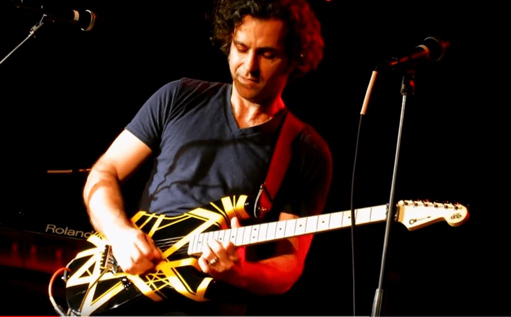Dweezil Zappa playing van halen