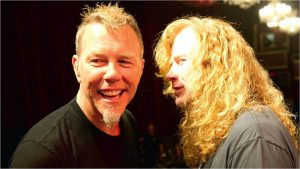 James Hetfield and Dave Mustaine