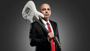 Joe Satriani with a suit