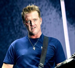 Josh Homme cutting face