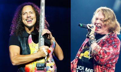 Kirk Hammet and Axl Rose