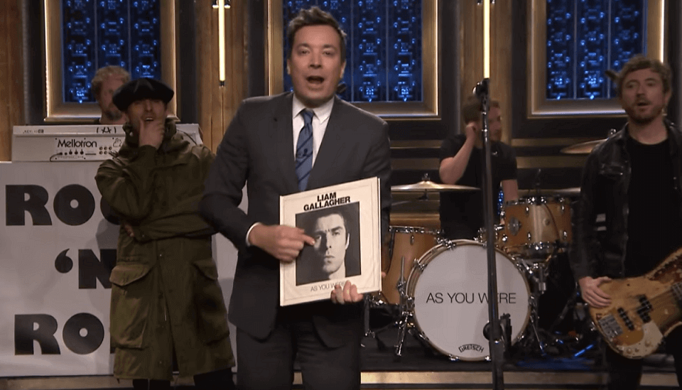 Liam Gallagher and Jimmy Fallon