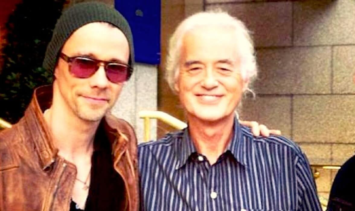 Myles Kennedy and Jimmy Page