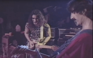 Steve Vai and Frank Zappa on stage