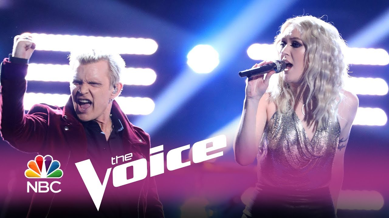 """Watch Billy Idol help contestant to win The Voice singing """"White Wedding"""""""