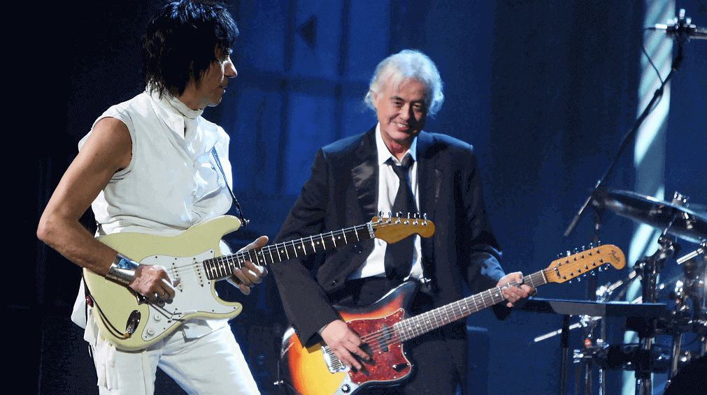 back in time jeff beck and jimmy page playing quotimmigrant