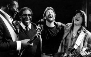 Bb KING, eric clapton and stevie ray vaughan