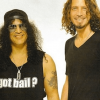 Chris Cornell and Slash