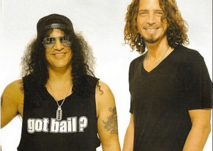 Chris Cornell and Slash