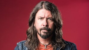 Dave Grohl red background