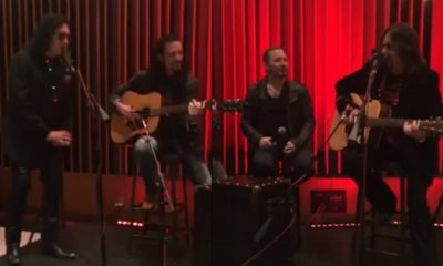 Gene Simmons, Ace Frehley, Bruce Kulick and Eric Singer play together
