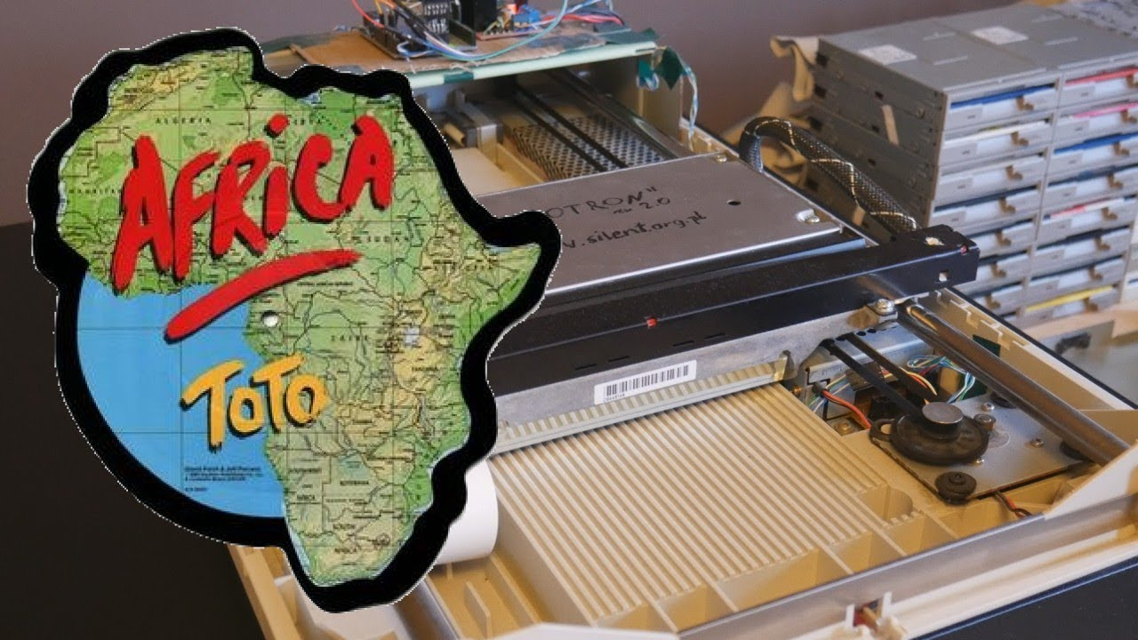 """Hear Toto's """"Africa"""" being played by an old-fashioned computer equipment"""