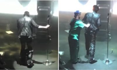 Marilyn Manson loses pants during show in Las Vegas