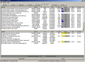 Napster screenshot