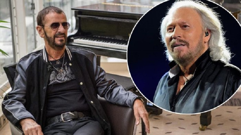 Ringo Starr and Barry Gibb